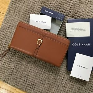 Cole Haan Brown Leather Kayden Continental Wallet